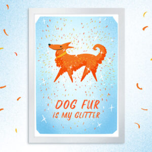 Dog fur is my glitter